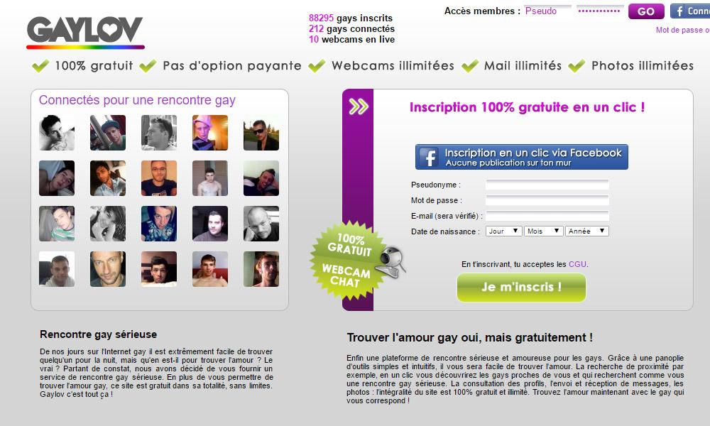 La gratuité du site internet permet de tester GayLov sans risque