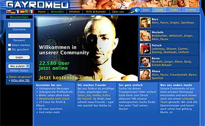 Free gay dating site in europe